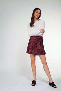 DEX CLOTHING LADIES RED SKIRT