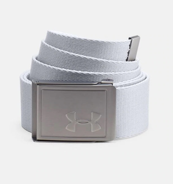 UNDER ARMOUR MENS WEBBING 2.0 REVERSIBLE WHITE/ACADEMY BELT