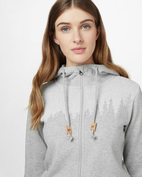 TEN TREE LADIES JUNIPER ZIP HI RISE GREY HEATHER  HOODIE
