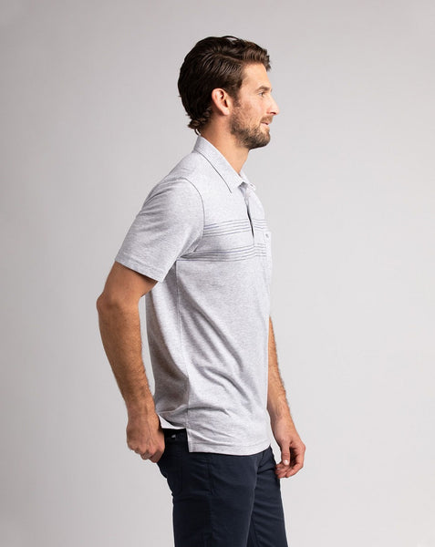 TRAVIS MATHEW MENS DREAMLAND BEACH HEATHER GREY POLO