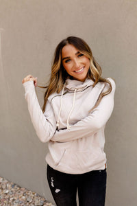AMPERSAND AVE LADIES BASIC PEARL DOUBLEHOOD HOODIE