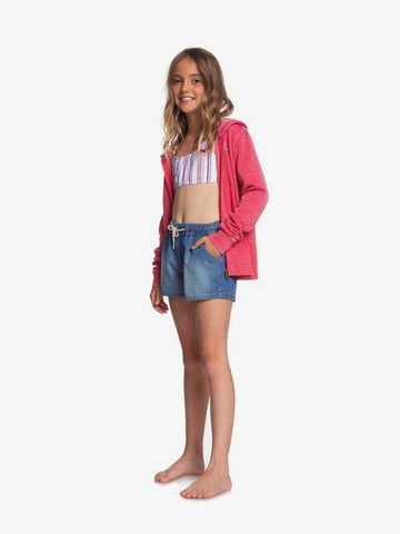 ROXY YOUTH GIRLS HONEY SUNDAY DEMIN SHORT