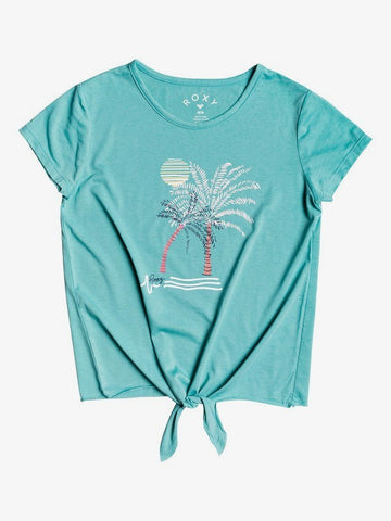 ROXY YOUTH GIRLS SUMMER LONG TIE FRONT CANTON TSHIRT