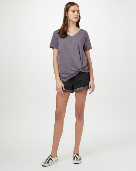 TEN TREE LADIES ENSO BOULDER GREY TSHIRT