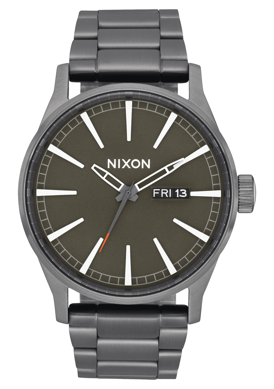 NIXON SENTRY SS ALL GUNMMETAL/SLATE/ORANGE WATCH