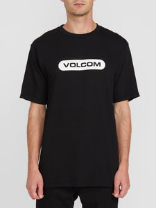 VOLCOM MENS NEW EURO BLACK TSHIRT