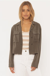 SISSTREVOLUTION LADIES SALUTE OLIVE JACKET