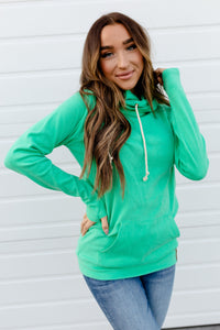 AMPERSAND AVE LADIES BASIC JADE DOUBLEHOOD HOODIE