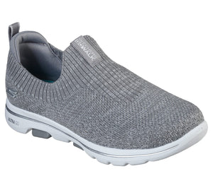SKECHERS LADIES GO WALK 5 TRENDY GREY SHOE