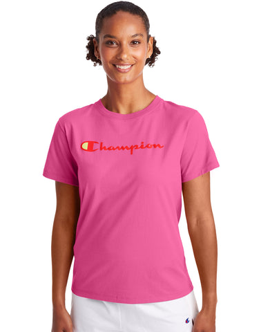 CHAMPION LADIES CLASSIC PEONY PARADE PINK TSHIRT