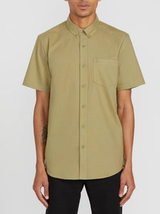 VOLCOM MENS SS EVERETT OXFORD MOSSSTONE SHIRT