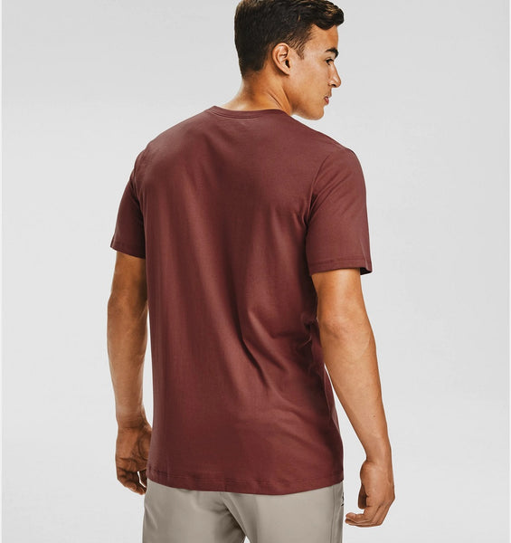 UNDER AMOUR MENS CINNA RED/ONXY WHITE POCKET TSHIRT
