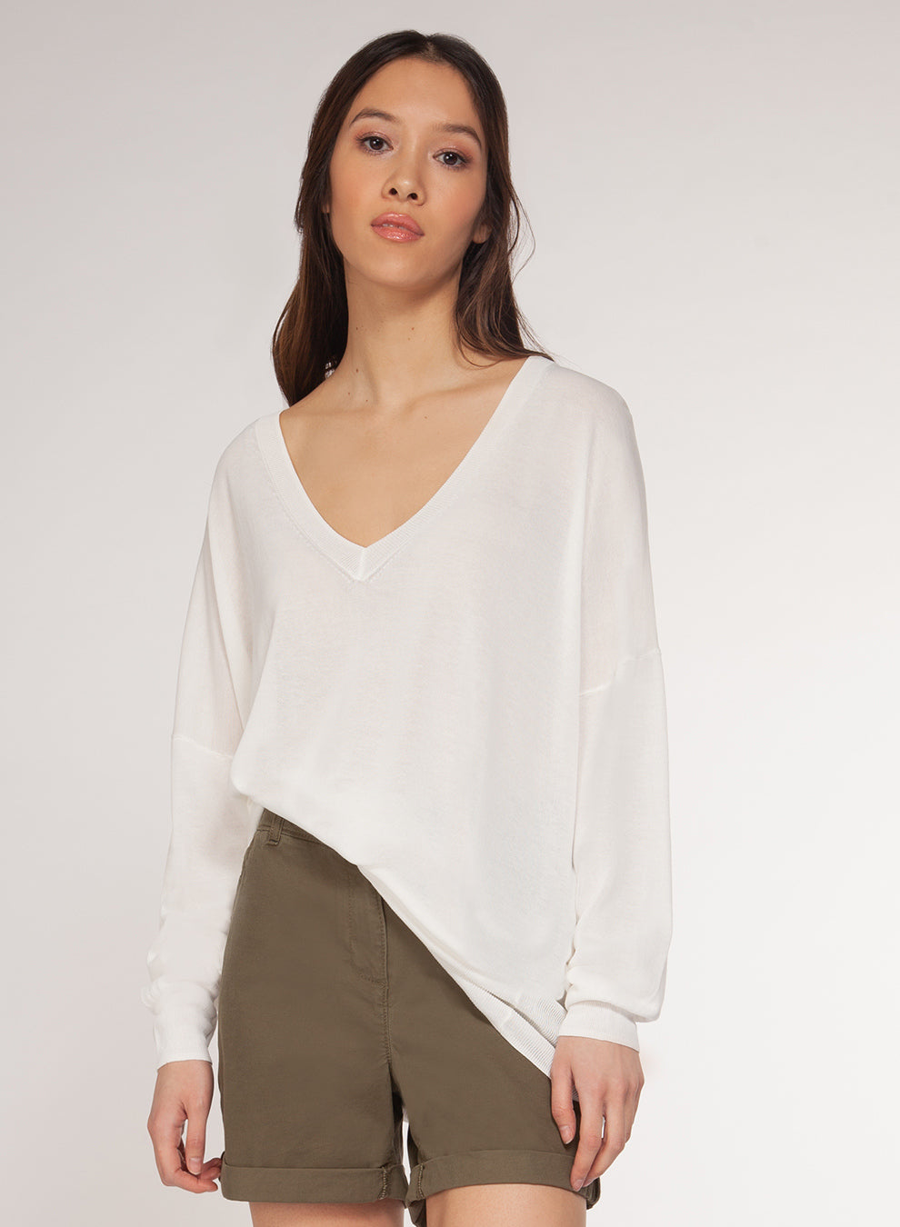 DEX CLOTHING LADIES CREAM SWEATER