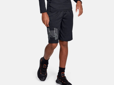 UNDER ARMOUR YOUTH PROTOTYPE LOGO BLACK SHORT