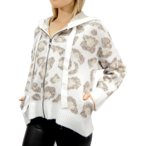 RD INTERNATIONAL LADIES KNIT NATURAL HOODIE