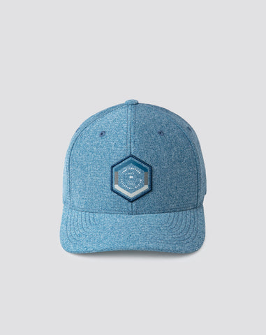 TRAVIS MATHEW MENS BOTTLED UP HEATHER BLUE OPAL HAT