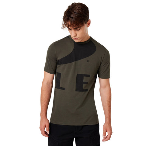 OAKLEY MENS BIG ELLIPSE NEW DARK BRUSH TSHIRT