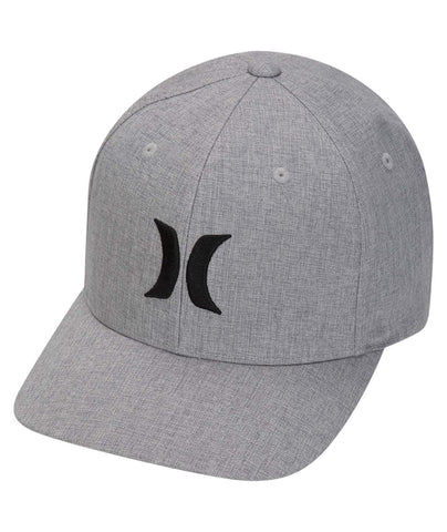 HURLEY MENS BLACK TEXTURES HEATHER GREY HAT