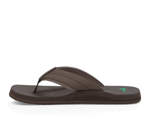 SANUK MENS BEER COZY DARK BROWN SANDAL