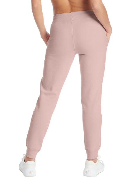 CHAMPION LADIES POWERBLEND GRAPHIC HUSH PINK JOGGER