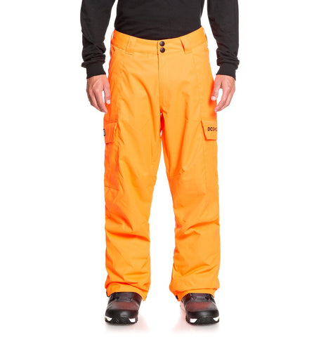 DC MENS BANSHEE SHOCKING ORANGE SNOWPANT