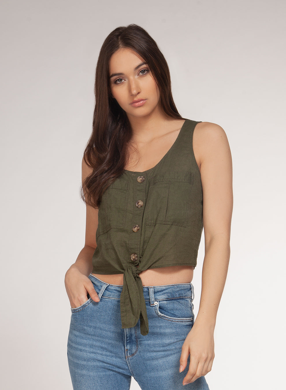 DEX CLOTHING LADIES GREEN SS TOP