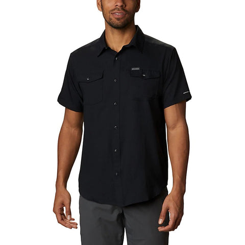 COLUMBIA MENS UTILIZER II SOLID BLACK SHORT SLEEVE SHIRT