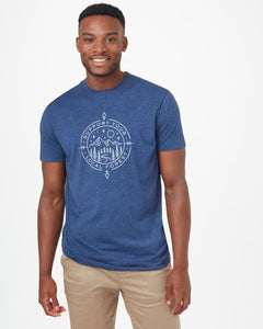 TEN TREE MENS SUPPORT CLASSIC DARK OCEAN BLUE HEATHER TSHIRT