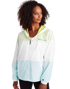CHAMPION LADIES STADIUM COLOURBLOCKED WHITE/ SOLAR ICE/BLUE JACKET