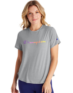CHAMPION LADIES SPORT LIGHTWEIGHT OXFORD GREY TSHIRT