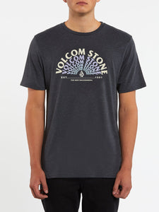 VOLCOM MENS EMINATE HEATHER BLACK TSHIRT