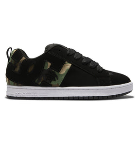 DC MENS COURT GRAFFIK SQ BLACK/CAMO SHOE