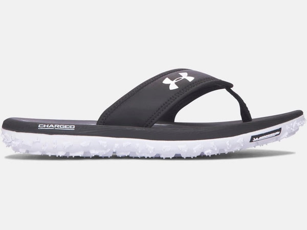 UNDER ARMOUR MENS FAT TITE BLACK SANDAL