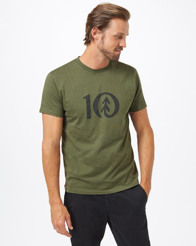 TEN TREE MENS TEN CLASSIC OLIVE NIGHT GREEN TSHIRT