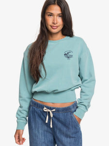ROXY LADIES RADIO SILENCE CROPPED CANTON SWEATER