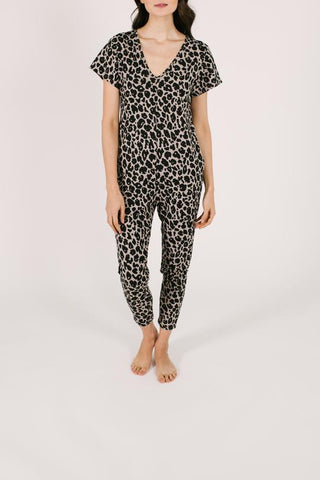 SMASH + TESS LADIES THE SUNDAY LEXI LEOPARD ROMPER