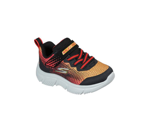 SKECHERS TODDLER BOYS GO RUN 650 NORVO BLACK/RED RUNNING SHOE