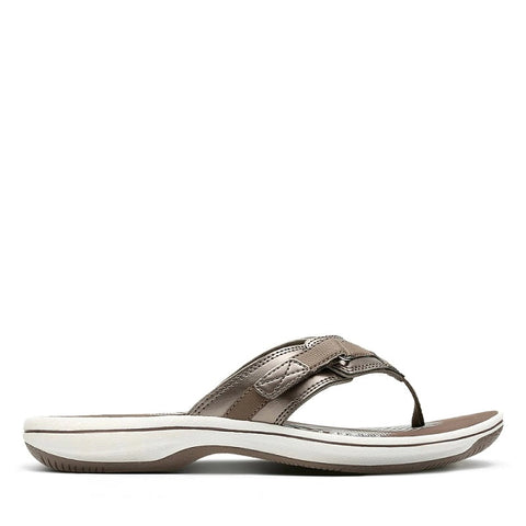 CLARKS LADIES BREEZE SEA PEWTER SANDAL