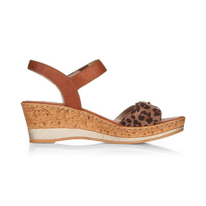 REMONTE LADIES D4754-24 BROWN COMBINATION SANDAL
