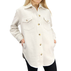 RD INTERNATIONAL LADIES CREAM WOVEN JACKET