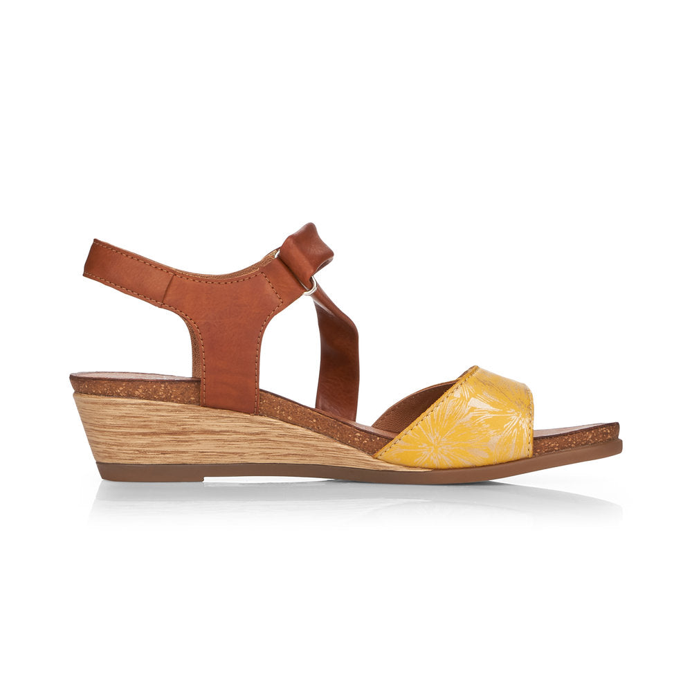 REMONTE LADIES R4462-68 YELLOW COMBINATION SANDAL