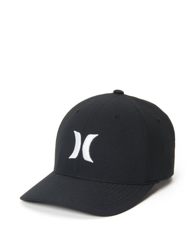 HURLEY MENS DRI FIT ONE AND ONLY BLACK/WHITE HAT