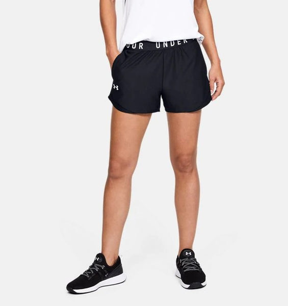 UNDER ARMOUR LADIES PLAY UP 3.0 BLACK/BLACK SHORT
