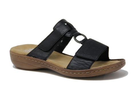 RIEKER LADIES 60885-00 BLACK SANDAL