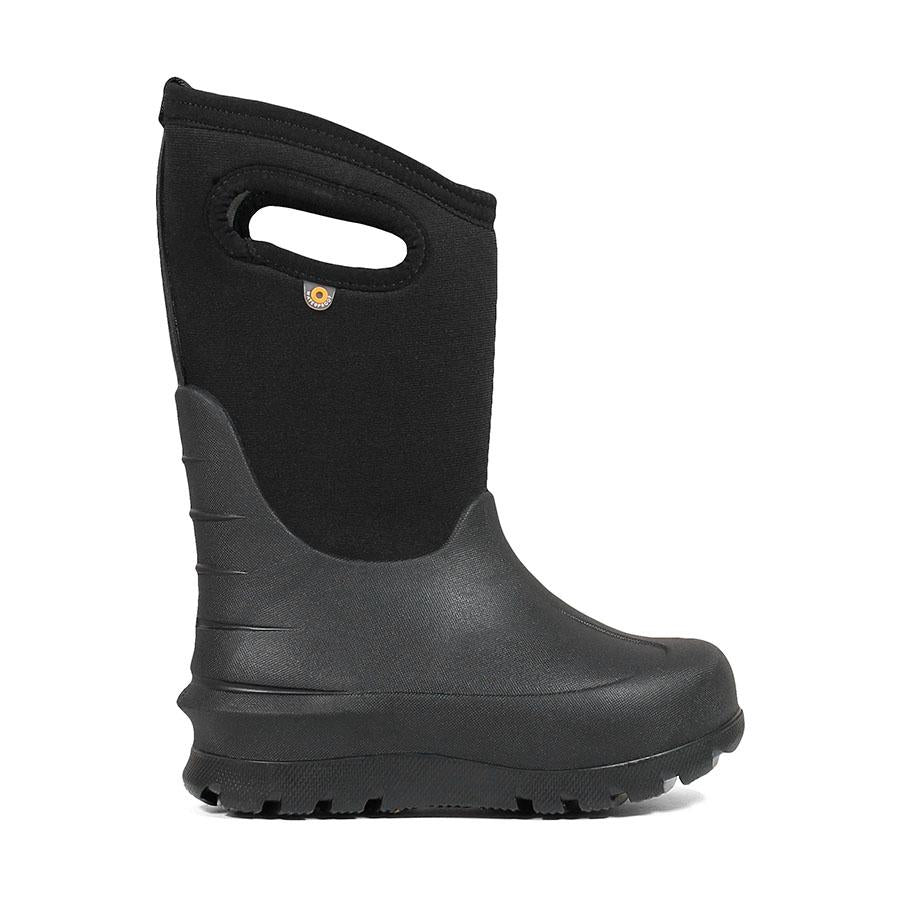BOGS YOUTH NEO-CLASSIC SOLID BLACK WINTER BOOTS