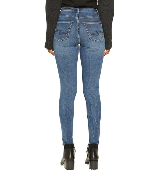 SILVER JEANS LADIES ROBSON HIGH RISE JEGGING