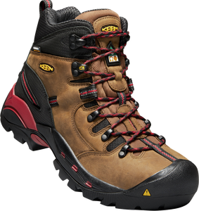 KEEN MENS CSA HAMILTON CARBON WP BISON/JESTER RED BOOT