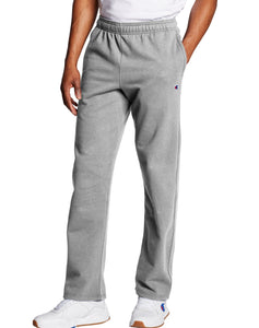 CHAMPION MENS OPEN BOTTOM POWERBLEND OXFORD GREY PANT