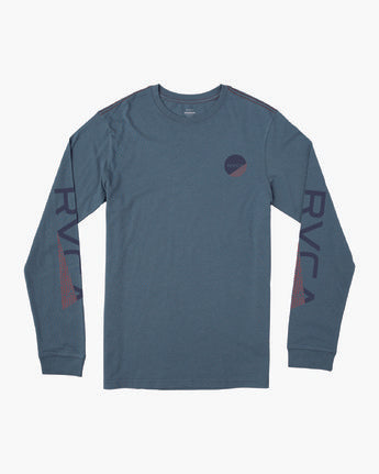 RVCA MENS FRACTION CALI BLUE LS TSHIRT
