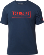 FOX MENS FOUNDED SS MIDNIGHT TSHIRT